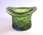 Green Daisy Button Hat Vase, Toothpick Holder