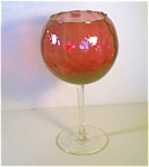 Cranberry Glass Stemmed Compote