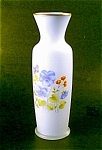 Handpainted Satin Glass Vase