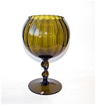 Twisted Stem Olive Green Vase, Votive Holder