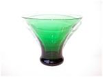 Green Glass Vase, Deco Style