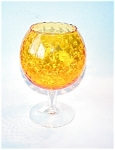 Golden Glass Brandy Snifter Stemmed Vase, Com