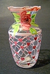 Handpainted Vase, Pink Hearts & Flowers