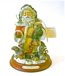 Santa Figurine/wood Base