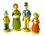 Set Of 4 Carollers Figurines