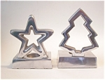 Aluminum Candleholders, Star And Tree