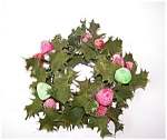 Plastic Holly And Sugarplum Candlering