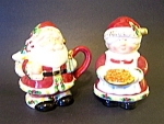Santa & Mrs. Claus Sugar And Creamer Set