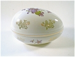 Egg Shaped Covered Box, Violet Decoration