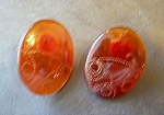Orange Bakelite? Pierced Earrings