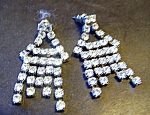 Rhinestone Dangle Earrings, For Pierced Ears