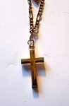 Goldtone Christian Cross On Chain