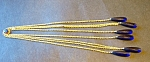 Goldtone & Glass Long Prism Type Dangles