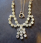 Rhinestone Necklace, Fine Chain