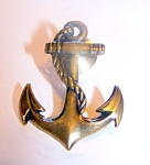 Goldtone Anchor Clutch Back Pin