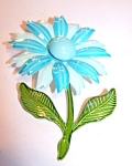 Light Blue & Whiteenamelled Daisy Brooch, Pin