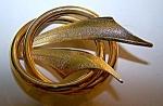 Goldtone Pin, Brooch, Circle