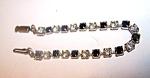 Bracelet, Black & Clear Rhinestone
