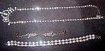 Rhinestone, Necklace, Earrings, Bracelet