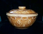 Brown Pottery Covered Casserole