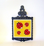 Cast Iron Trivet, Lady Bug Decoration