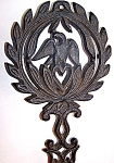 Cast Iron Trivet Eagle Motif
