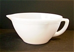 White, Milk Glass Batter Bowl