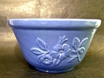 Blue Pottery, Embossed Flower Ptn. Bowl