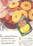 Del Monte Pineapple Ad Sheet Vintage
