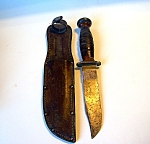 Ka-bar Knife In Sheath, Military