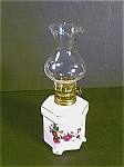 Miniature Lamp 6 Sided,rose Pattern