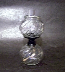 Clear Glass Oil Lamp Miniature