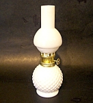 Hobnail Ptn. Milk Glass Mini Oil Lamp