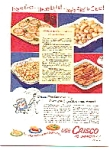 Crisco Ad With 4 Potato Recipes