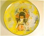 Degrazia The Flower Girl Plate