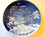 B & G Christmas Plate 1986 Silent Night Holy Night