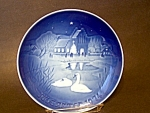 B & G Christmas In The Village Plate 1974