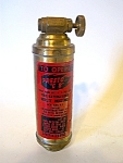 Fire Extinguisher, Miniature, Brass Plate