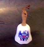 Bell. Eagle Decoration, Porcelain
