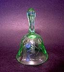 Glass Bell, Green Glass, Leaf Ptn.