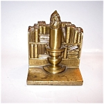 Brass Finish Cast Iron Bookends