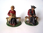 Amish Couple Cast Iron Bookends