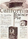 California Rasin Bread And Pie Ad