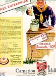 Carnation Evaporated Milk Ad Sheet