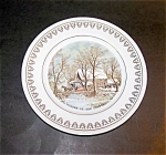 Currier And Ives Decorative Plate Old Grist M