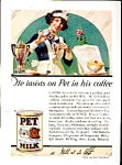 1923 Pet Evaporated Milk Ad Sheet