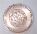 Pewter Tray Happines & Good Luck