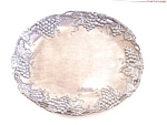 Silver Plate On Pewter Tray