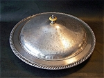 Covered Bowl, Tray Silverplated