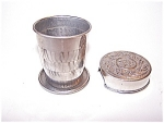 Silverplated Lid Collapsible Cup